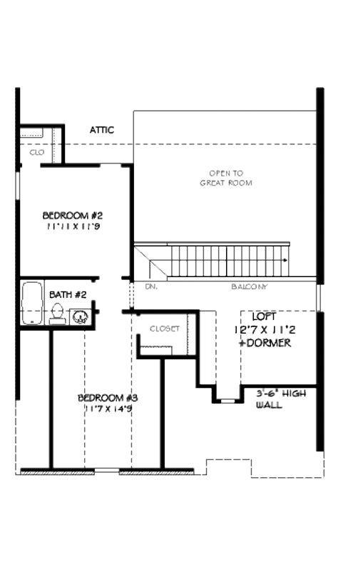 1905 sq ft the barrie house floor plan total kitchen european style house plan 3 beds 2 5 baths 1905 sq ft
