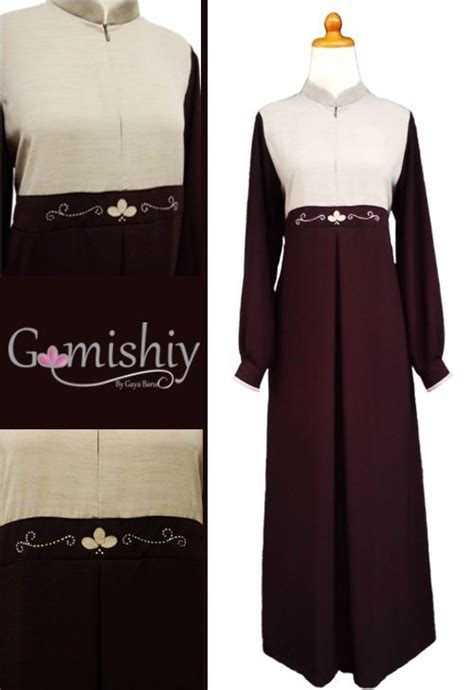 P N Fashion Gamis 0817 Coklat 22 best gamishiy gamis images on dressing