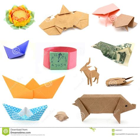 Origami Paper Set - origami papers stock photo image 44031817