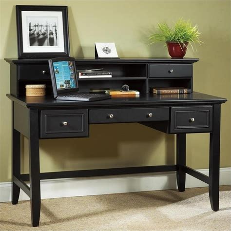 Wood Home Office Desks Bedford Writing Desk With Hutch In 5531 152