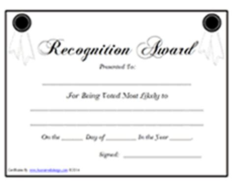 Blank Most Likely To Recognition Award Certificates Templates