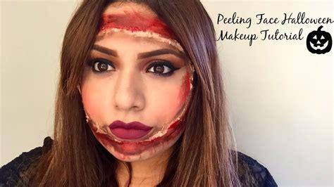 eyeliner tattoo flaking off peeling face halloween makeup tutorial youtube