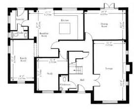House Plan Dimensions Floor Plan Of A House With Measurements
