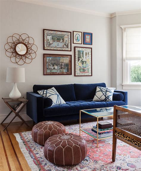 blue couch living room christy allen designs san francisco noe valley project