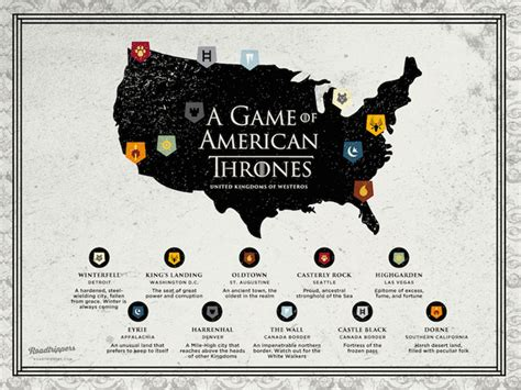Kings Landing Croatia by A Map Of Game Of Thrones If It Was Set In The Usa
