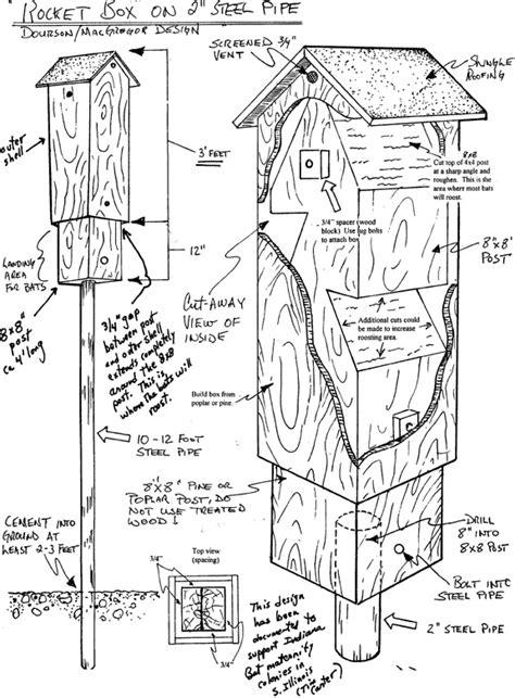 bat house pattern plans bat house rocket box
