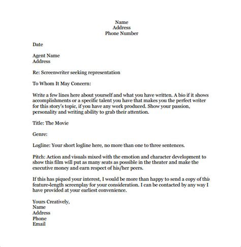 query letter template sle query letter templates 8 free documents