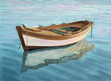 small boat videos small boat painting by andreja dujnic