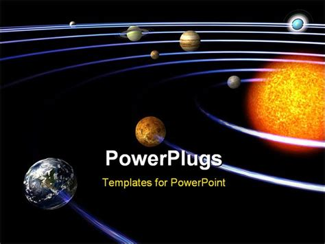 Schematical Image Of The Solar System With Clipping Path Solar Lighting System Ppt