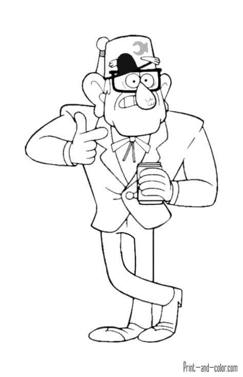 Gravity Falls Coloring Pages Print And Color Com Gravity Falls Printable Coloring Pages