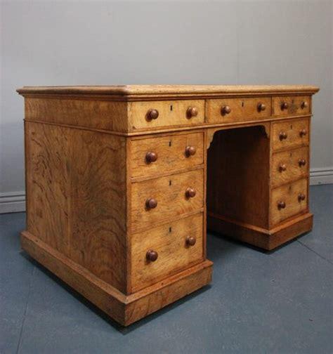 antique oak desk antique oak pedestal writing desk antiques atlas