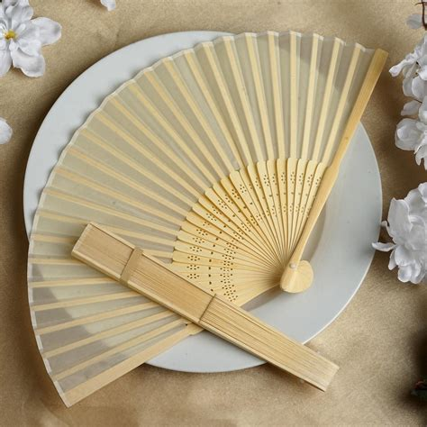 silk folding hand fans 75 pcs hand fans summer silk fabric folding wedding favors