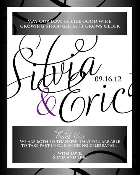 Signatures By Sarah Wedding Stationery For Silvia 4x5 Label Template