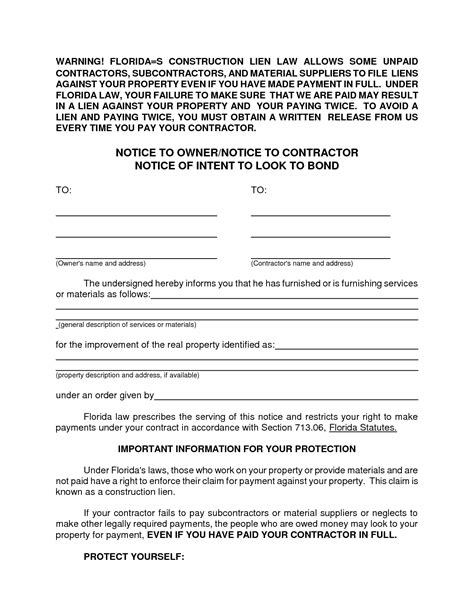 Letter Of Intent To File A Lien Template Exles Letter Cover Templates Notice Of Lien Letter Template