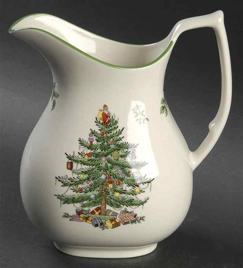 spode christmas tree green trim pattern spode christmas tree green trim 46 oz pitcher 8473140 ebay