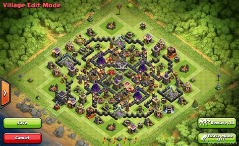 layout coc th9 anti giant anti barch giant th9 gold de farming base clash of clans