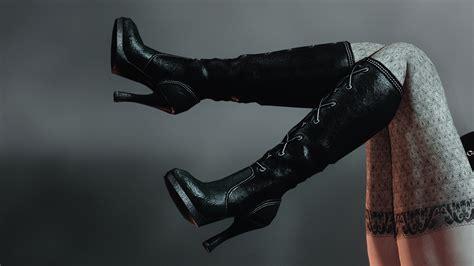 skyrim high heels hdt black viper s will unp the elder scrolls v skyrim