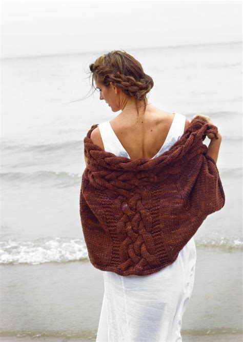 items similar   knitting pattern selkie celtic wrap cables cabled jacket  etsy