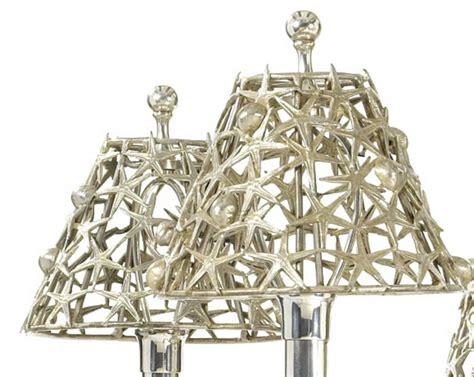 Nautical Chandeliers Silver Plated Buccellati Style Six Light Marine Seashell