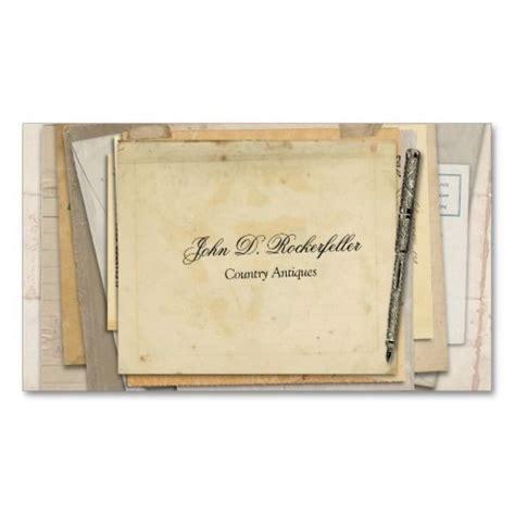 antique business card template vintage paper ephemera antique pen