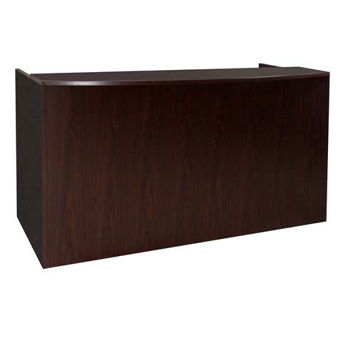 Laminate Reception Desk Everyday Laminate Reception Desk Mahogany National Office Interiors And Liquidators