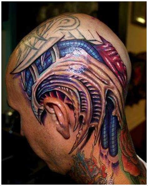 3d mechanical tattoo designs 35 bio mechanical designs