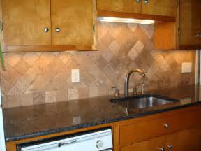 Brick Backsplashes For Kitchens tumbled travertine kitchen backsplash on diagonal new