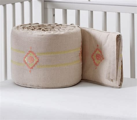 Embroidered Crib Bedding by Kayne Linen Embroidered Nursery Bedding Pottery