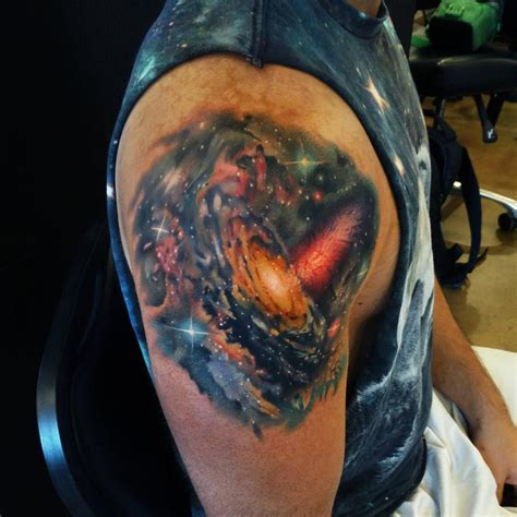 galaxy tattoo designs galaxy shoulder best ideas designs