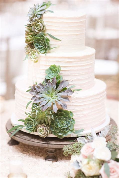 Wedding Cake With Succulents 20 succulent wedding cake inspiration that wow