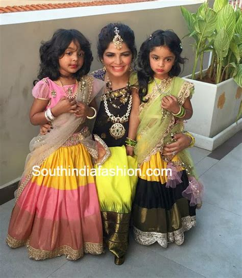 South Indian Wardrobe by And Viviana In Half Sarees South India Fashion