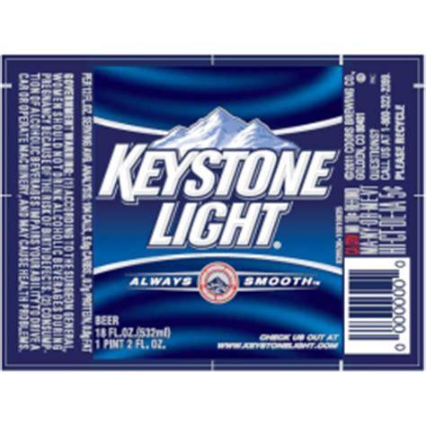 Calories In Keystone Light by Keystone Light Coors Brewing Company Brewerydb