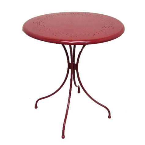Shop Garden Treasures Jacoby Junction Red Round Patio Patio Bistro Tables