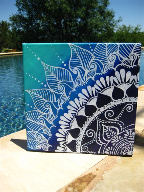 henna design canvas henna on canvas by keepaustindreaming on etsy