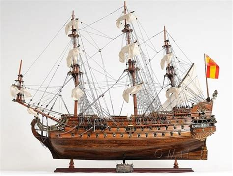 sailing boat in spanish san felipe spanish galleons 1690 ship wooden boat model 28