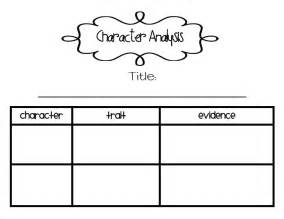 character analysis template s grade snippets character analysis