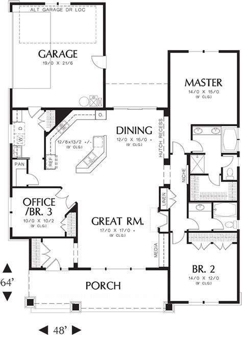 415 sq ft craftsman 3 beds 2 baths 1891 sq ft plan 48 415 main