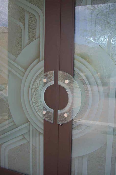 Etched Glass Doors With Glass Door Pulls By Sans Soucie Glass Door Design