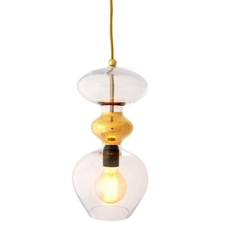 large gold pendant light hanging pendant light shade in clear glass with gold