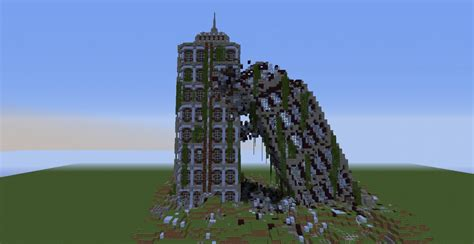 crumbling modern buildings minecraft project