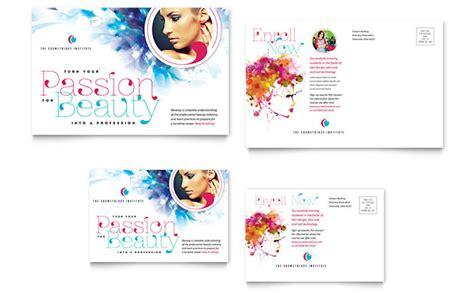free esthetician business card templates cosmetology postcard template design