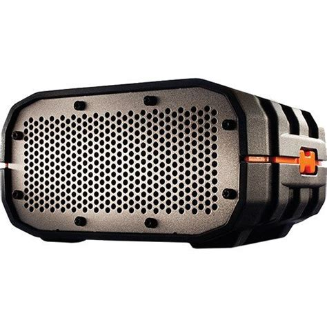 rugged relief braven brv 1 portable ultra rugged wireless speaker black with orange relief and gray g