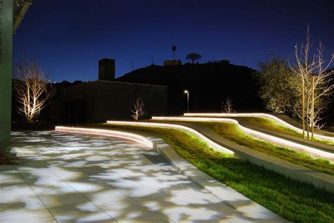 Landscape Architecture Lighting Landscape Playa Vista Ca Oculus Light Studio