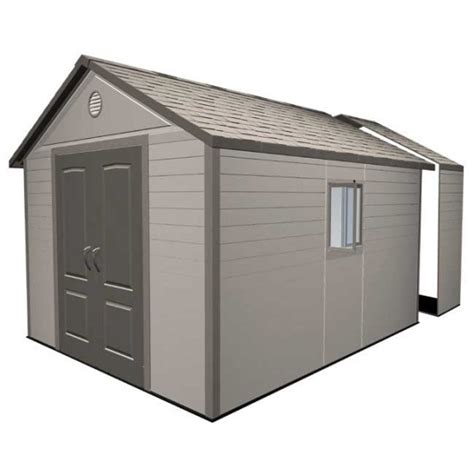 Lifetime Shed Extension by Plans To Build A Utility Shed Building Shed Extension