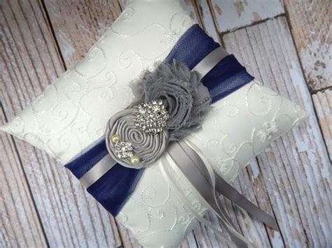 Navy Blue Ring Bearer Pillow by Etsy Listing At Https Www Etsy Listing 153567164