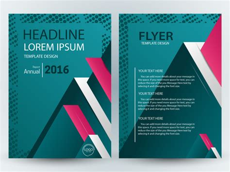 flyer template illustration with 3d blue background free