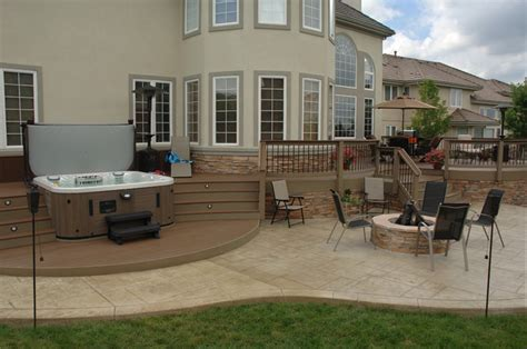 Composite Patio by Curved Composite Deck Patio Denver By Rolling Ridge