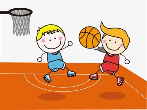 dibujos niños jugando baloncesto dibujos de ni 241 os jugando al baloncesto stock image