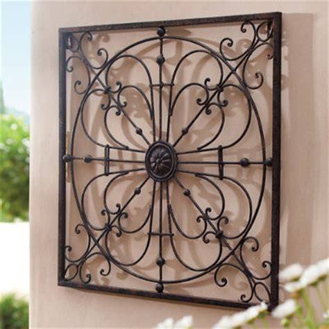 outdoor metal wall decor gabriella iron wall traditional outdoor wall