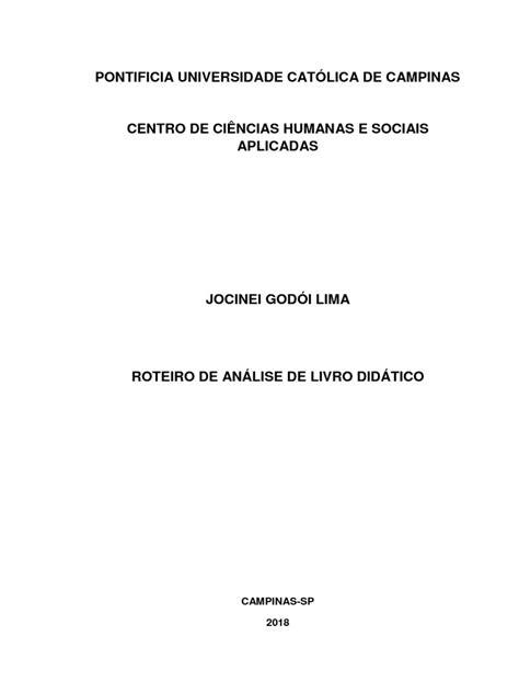 Roteiro de Análise de Livro Didático - Antropologia
